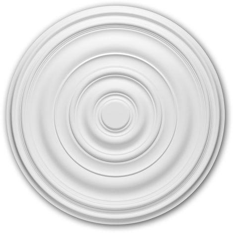 Rosace 156018 Profhome Élement décorative Élement pour plafond design intemporel classique blanc Ø 74,5 cm