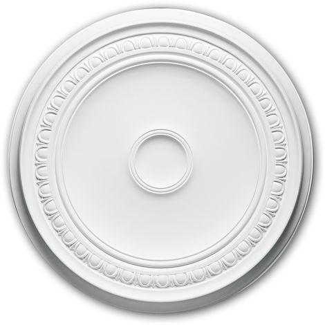Rosace 156031 Profhome Élement décorative Élement pour plafond design intemporel classique blanc Ø 61,5 cm