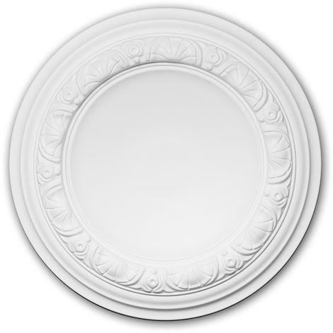 Rosace 156032 Profhome Élement décorative Élement pour plafond style Néo-Renaissance blanc Ø 32 cm