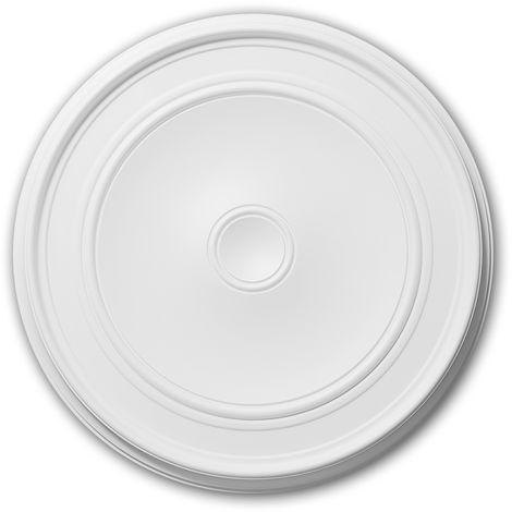 Rosace 156044 Profhome Élement décorative Élement pour plafond design intemporel classique blanc Ø 62 cm
