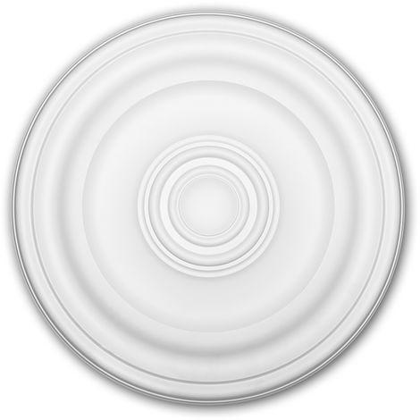 Rosace 156050 Profhome Élement décorative Élement pour plafond design intemporel classique blanc Ø 40,4 cm