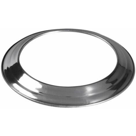 Rosace aluminium pour gaine accordéon Ø 110/116