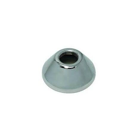 Rosace chromée conique 20x27 25mm (la paire)