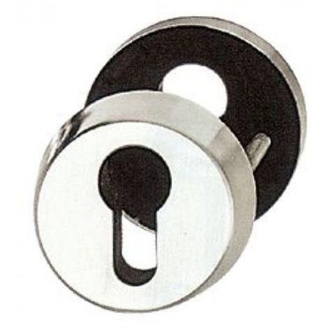 Rosace de protection cylindre traversante Abus RH - Alu