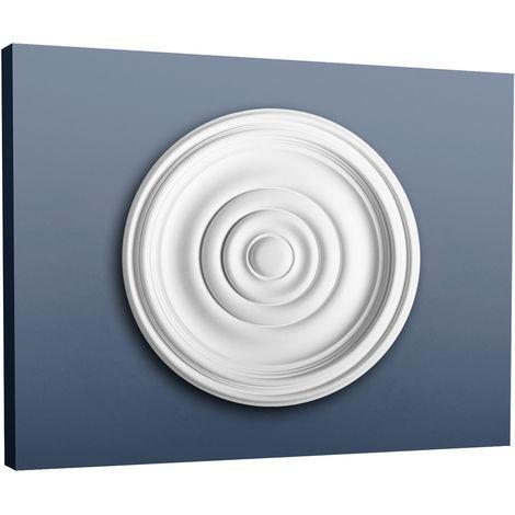 Rosace Décoration de plafond Elément de stuc Orac Decor R08 Elément décoratif Motif anneau classique 38 cm diamètre