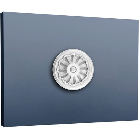 Rosace D/écoration de plafond El/ément de stuc Orac Decor R64 LUXXUS El/ément d/écoratif blanc 95 cm diam/ètre