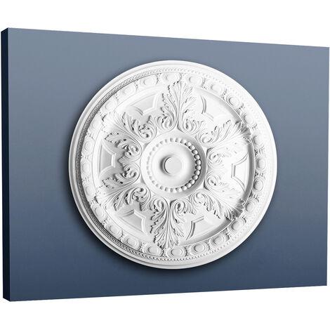53,5 cm diam/ètre Rosace D/écoration de plafond El/ément de stuc Orac Decor R46 LUXXUS El/ément d/écoratif blanc