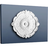 Rosace Décoration de plafond Elément de stuc Orac Decor R31 LUXXUS Elément décoratif classique blanc | 38,5 cm diamètre