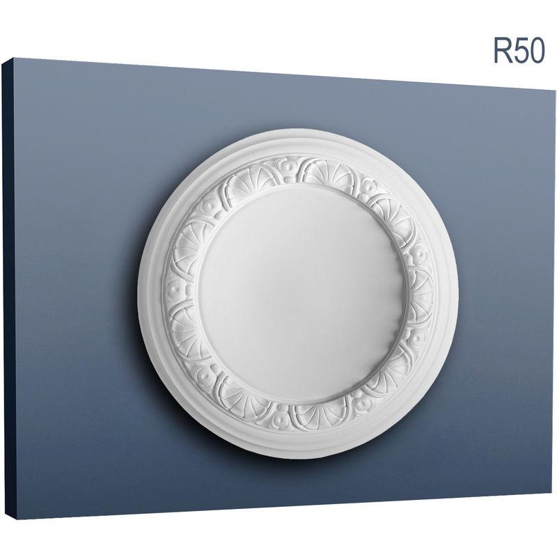Rosace D/écoration de plafond El/ément de stuc Orac Decor R27 LUXXUS El/ément d/écoratif classique blanc 75 cm diam/ètre