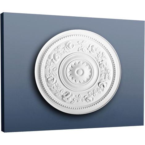 Rosace Décoration de plafond Elément de stuc Orac Decor R61 LUXXUS Elément décoratif blanc 40 cm diamètre