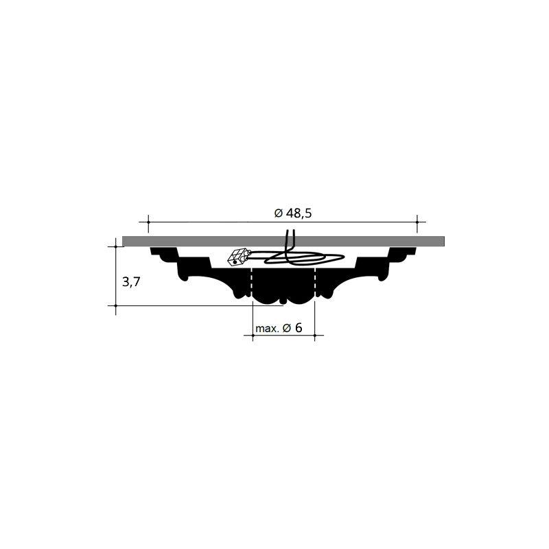 48 cm diam/ètre Rosace D/écoration de plafond El/ément de stuc Orac Decor R09 LUXXUS El/ément d/écoratif classique blanc