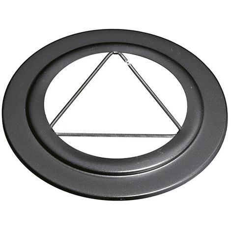 Rosace EMAIL NOIR - Diamètre intérieur 125 mm