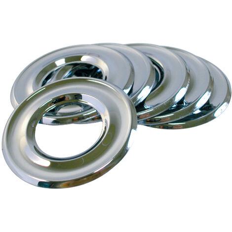 Rosace plate à moulure pour robinet - Diamètre 1/2 - diam. Ext. 55 - hauteur 2 mm - par deux pièces