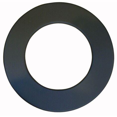 Rosace pour élément droit de finition Ø 150 - Noir