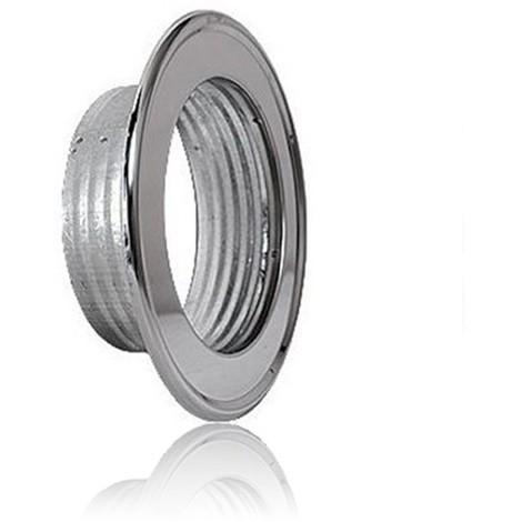 Rosace Pour Tube Flexible En Aluminium Flexible ø80 Inox Rosaces En Acier Inoxydable