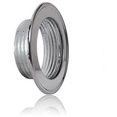 Rosace pour tube flexible en aluminium, flexible Ø80 inox Rosaces en acier inoxydable