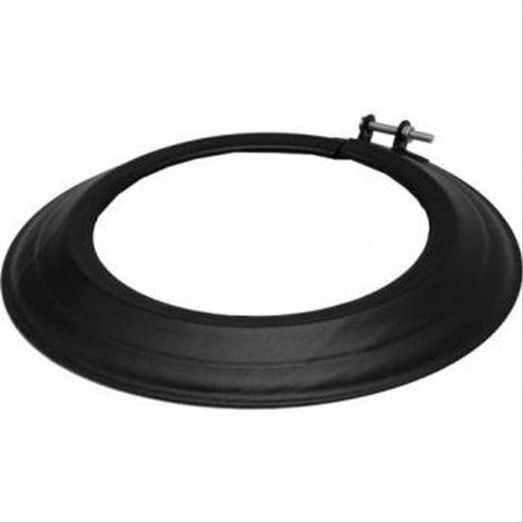Rosace TEN acier émaillé noir mat Diam180mm