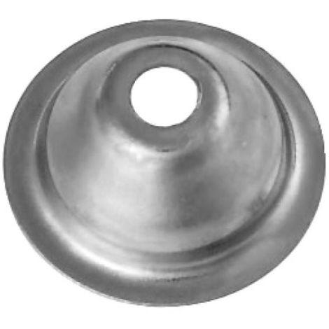 Rosaces d'écartement conique 24 mm acier zingué boîte de 100 pièces