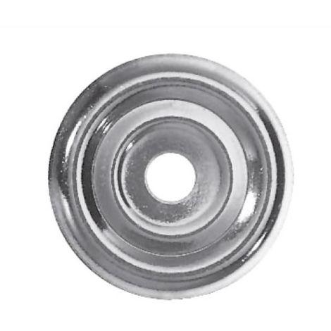 Rosaces plates acier zingué diamètre 32 mm boîte de 100 pièces