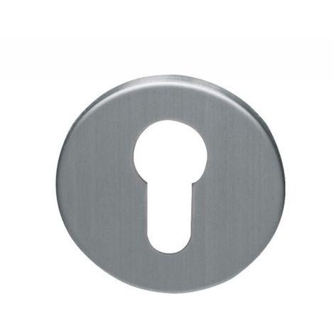 Rosaces plates de 4 mm inox 304 EST clé condamnation à voyant