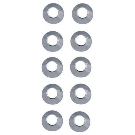 Rosaces pour radiateurs Ø 15 chrome (10 pièces) / Rosettes pour tubes en cuivre