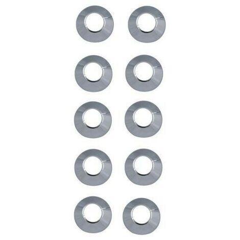 Rosaces pour radiateurs Ø 18 chrome (10 pièces) / Rosettes pour tubes en cuivre