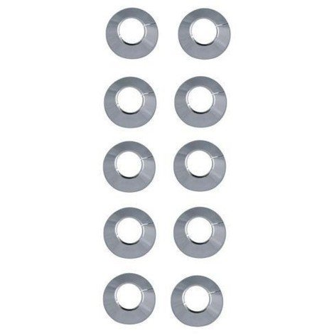 Rosaces pour radiateurs Ø 22 chrome (10 pièces) / Rosettes pour tubes en cuivre