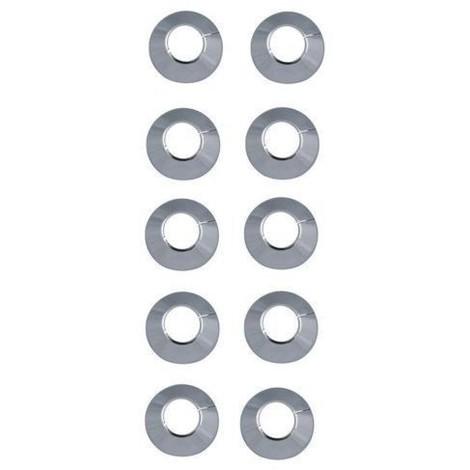 Rosaces pour radiateurs Ø 28 chrome (10 pièces) / Rosettes pour tubes en cuivre