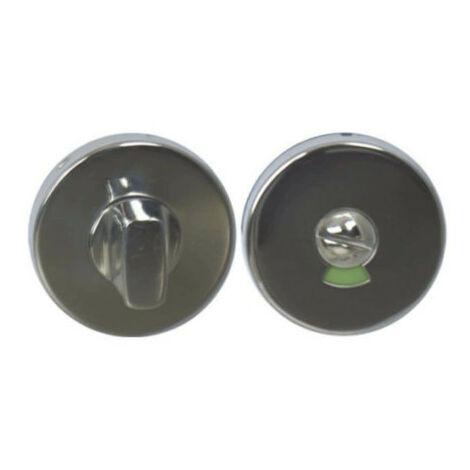 Rosaces rondes à condamnation avec voyant - inox 304 brillant