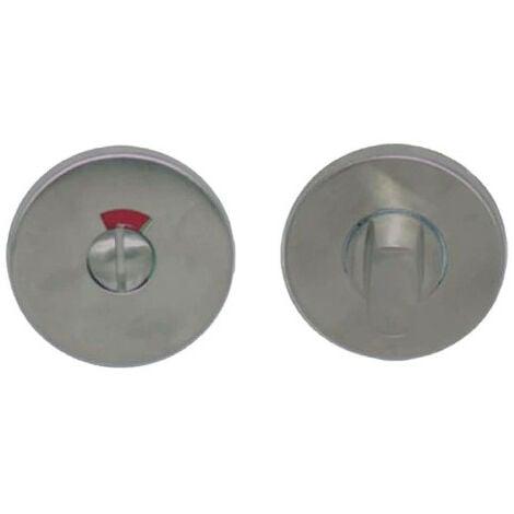 Rosaces rondes à condamnation avec voyant - inox 304 brossé mat