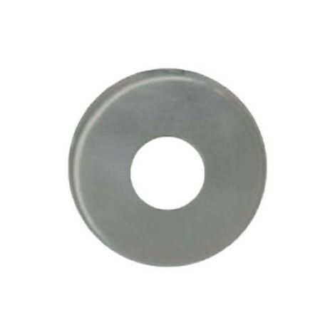 Rosaces rondes batteuses diamètre 20 - inox 304 brossé mat x2