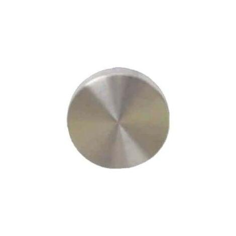 Rosaces rondes borgne - finition inox brossé mat - diamètre 54mm x2