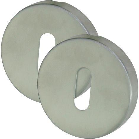 Rosaces rondes inox mat serrure DT2000 - Clé I