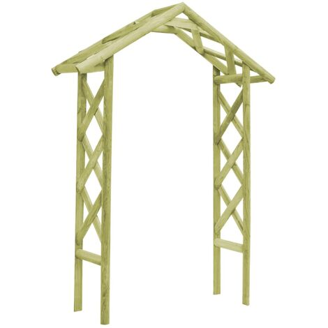 Rose Arch 135x45x232 cm Green Impregnated Pinewood