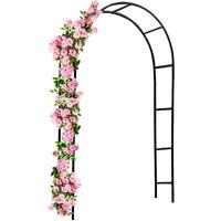 Rose Arch 240 x 140 cm Climbing Trellis Pergola Pillar Garden