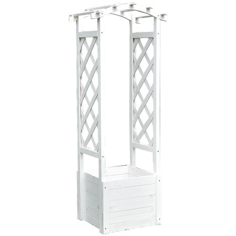 rose arch flower pot trellis trellis trellis rail rose column wood trellis frame white