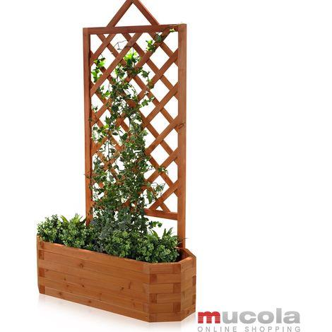 rose arch planting box trellis climbing help flower tub flowers box wood