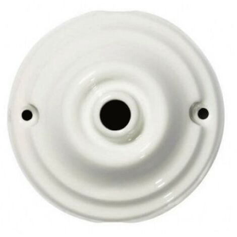 Rose Gambarelli de la porcelaine lisse diamètre 80mm 01600
