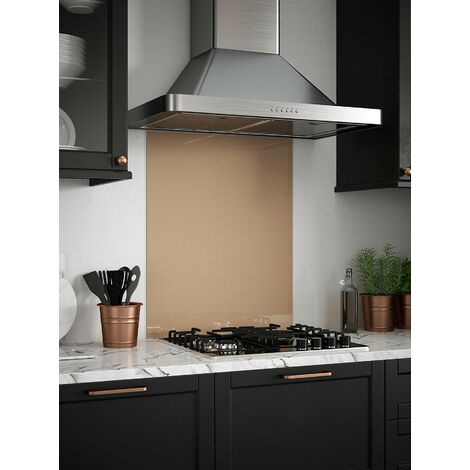 Rose Gold Glass Kitchen Splashbacks - different dimensions available