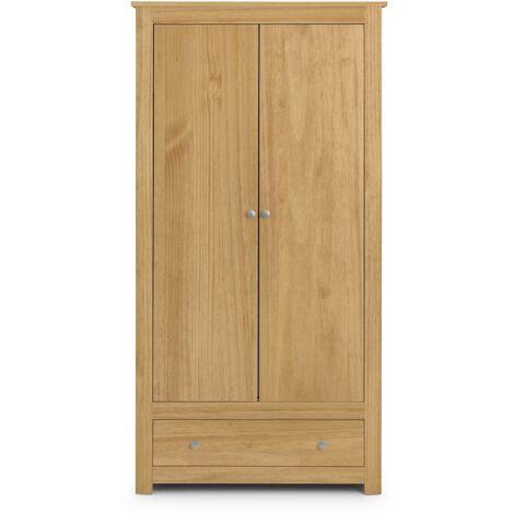 Rosella 2 Door 1 Drawer Combi Wardrobe Waxed Pine