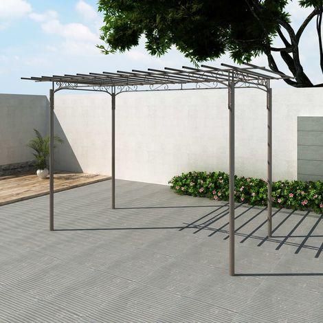 Rosenbogen Gartenlaube Stahl Gartendeko
