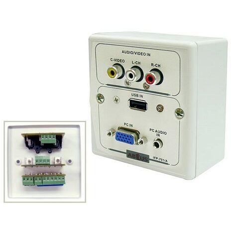 Roseta Multimedia VGA USB AUDIO RCA A/V ABTUS