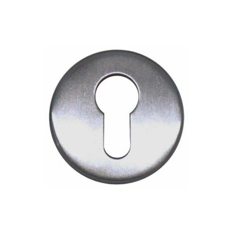 Rosetas cilíndricas redondas - para puertas cortafuego - acero inoxidable 304 cepillado mate x2
