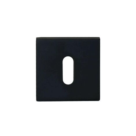 Rosetas cuadradas - aluminio anodizado negro x2