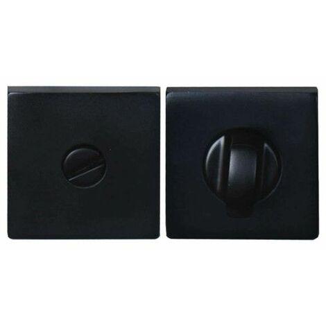 Rosetas de cierre cuadradas - aluminio anodizado negro x2