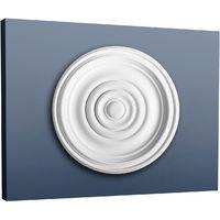 Rosetón Florón Elemento decorativo de estuco Orac Decor R08 LUXXUS para techo o pared Forma de anillo 38 cm diàmetro
