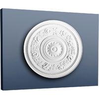 Rosetón Florón Elemento decorativo de estuco Orac Decor R61 LUXXUS para techo o pared blanco 40 cm diámetro