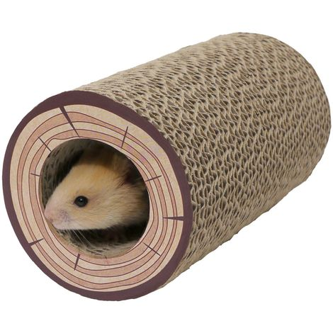 """main image of """"Rosewood Boredom Breaker Shred A Log Corrugated Tunnel (One Size) (Brown)"""""""
