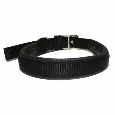 Rosewood Collar nylon neopreno hebilla negro 40cm x 15mm