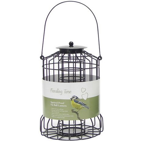 Rosewood Feeding Time Squirrel Proof Fat Ball Lantern (One Size) (Black)